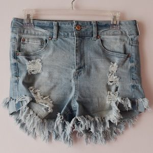 Celebrity Pink High Waisted Frayed Jean Shorts